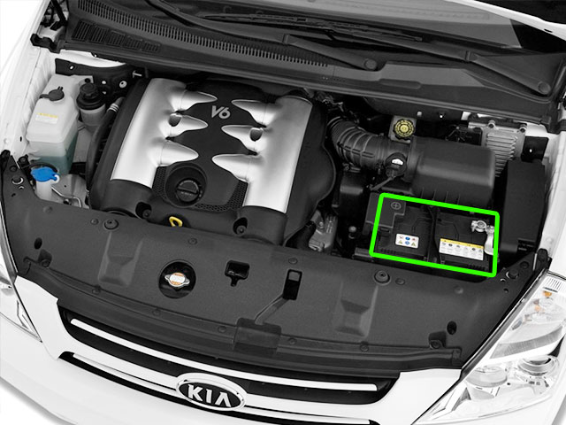 Kia Sedona Car Battery Location