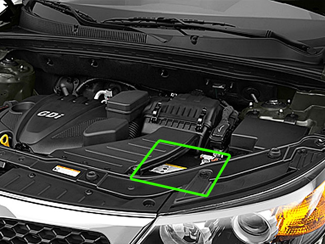 Kia Sorento Car Battery Location