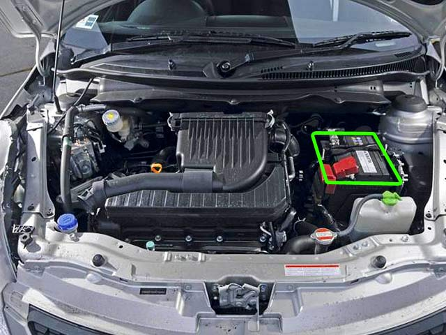 Suzuki Swift Car Battery Location