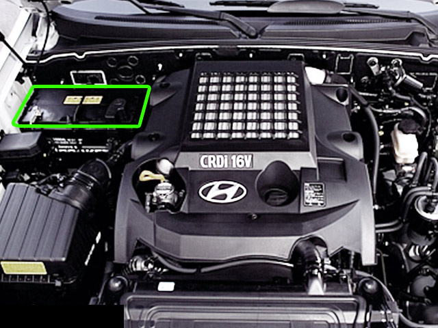Hyundai Terracan Car Battery Location