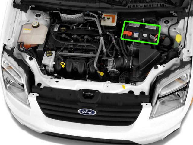 Ford Transit Connect Van Battery Location