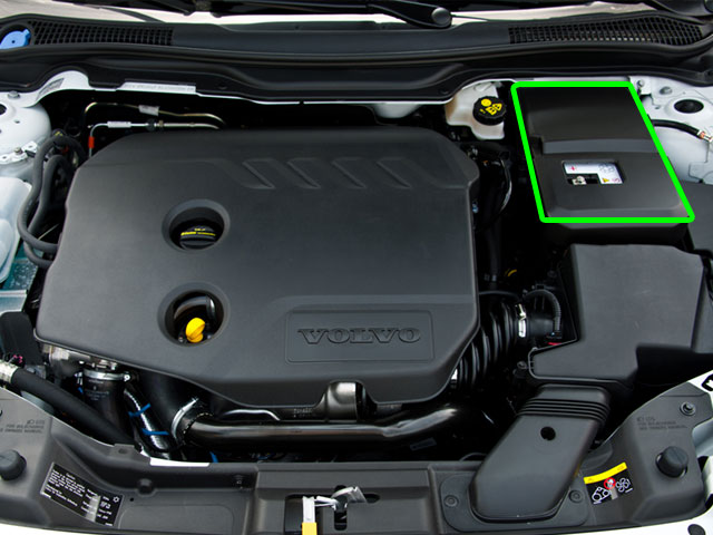 Volvo S40 Car Battery Location