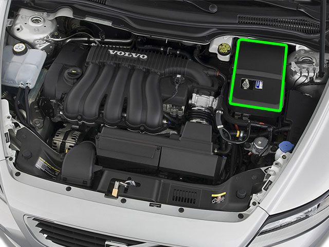 Volvo V50 Car Battery Location
