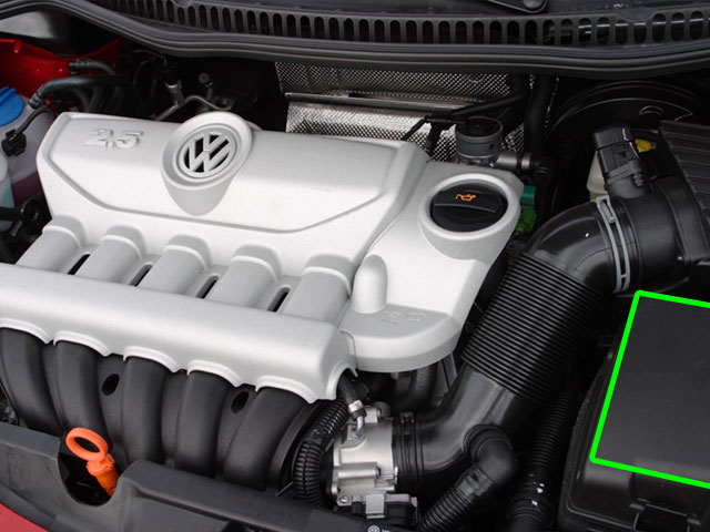 VW Beetle Car Battery Location