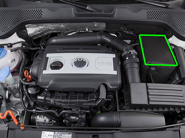 VW Bora Car Battery Location