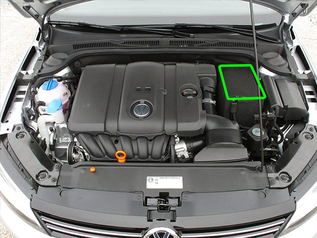 VW Jetta Car Battery Location
