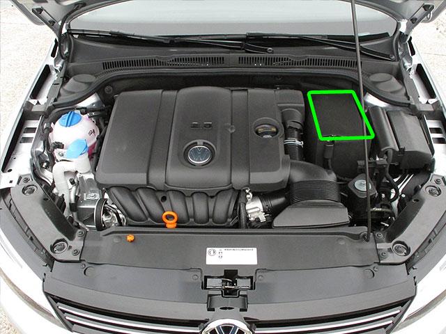 VW Jetta Car Battery Location