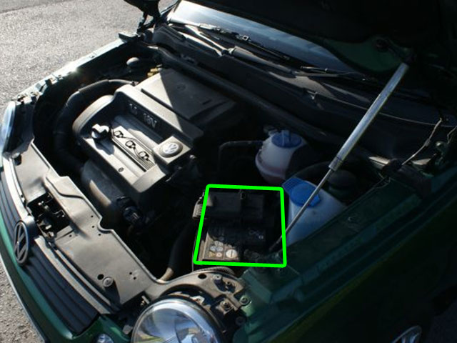VW Lupo Car Battery Location