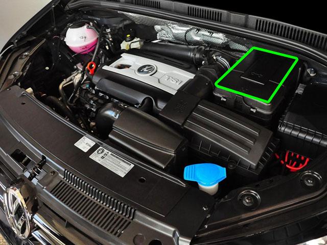 VW Sharan Car Battery Location