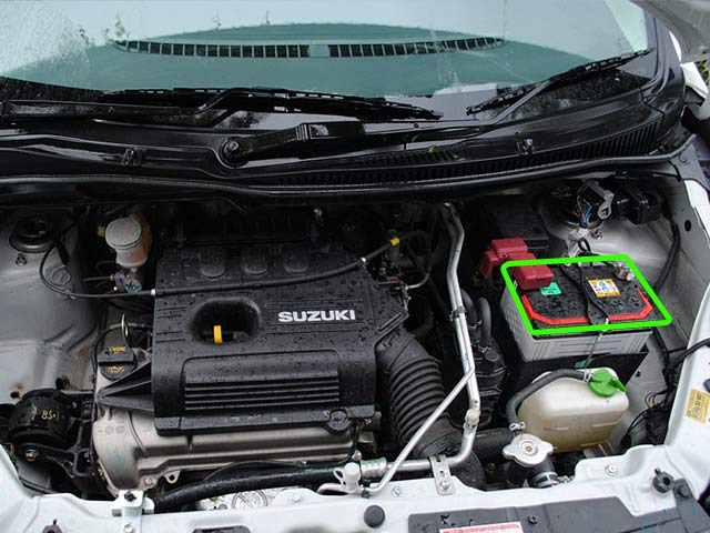Suzuki Wagon-R Car Battery Location