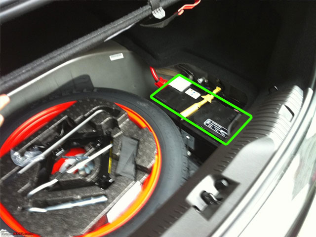 Jaguar XF Car Battery Location