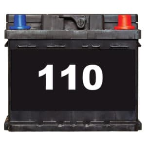 cosmetic 110 battery