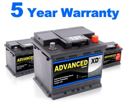 5 Year Battery Warranty Fitted