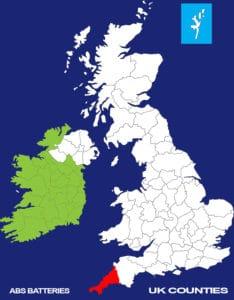 Cornwall UK COUNTY-CAR BATTERY-CAR BATTERIES