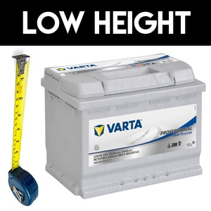 Low Profile Height Caravan Batteries