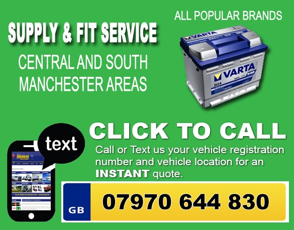Mobile battery fitting service Stockport, Sale, Altrincham, Wilmslow, Bredbury, Denton, Longsight, Poynton, Cheadle