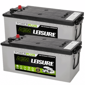 Pair of AGM 180ah Batteries