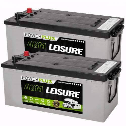 Pair of AGM 180ah Batteries