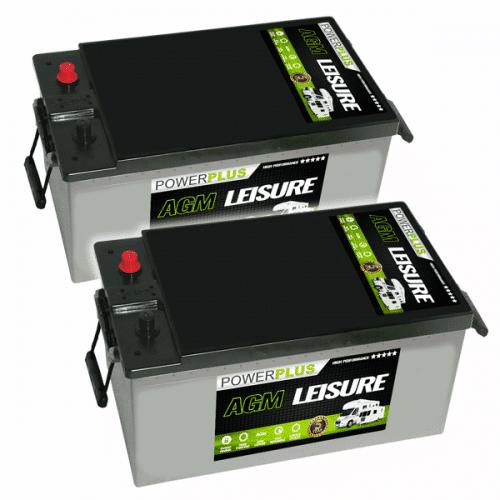 Pair of AGM 230ah Batteries