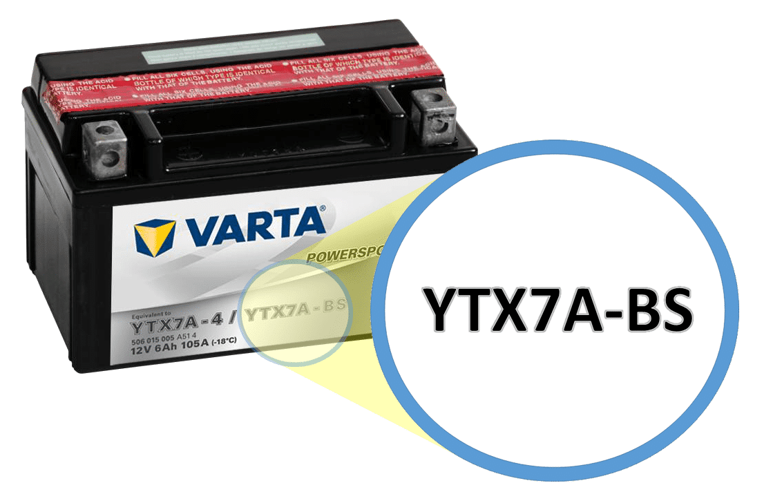Find your motorcycle battery code