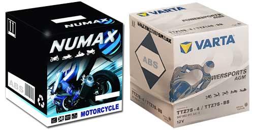 NUMAX AND VARTA MOTORBIKE BATTERIES