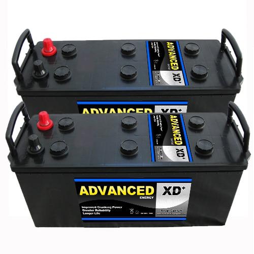 pair of 637XD batteries