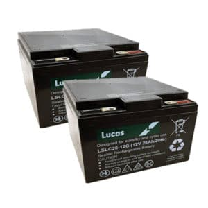 Pair of Lucas 26ah