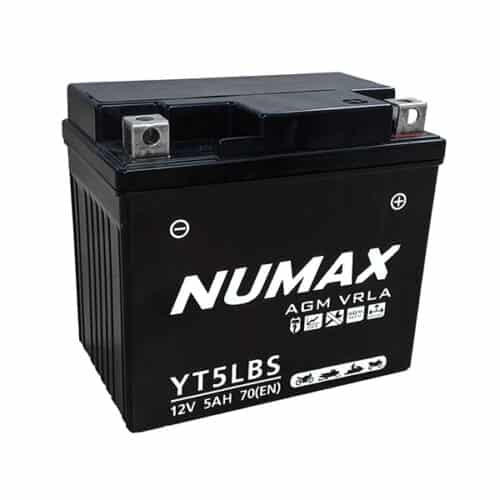 yt5lbs numax motorcycle battery image