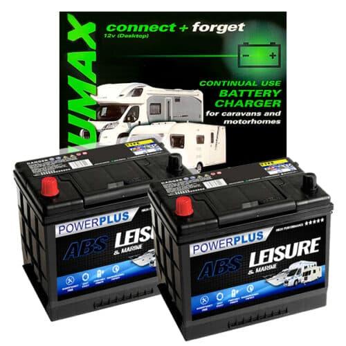 2 x l85 plus smart charger numax 10ah